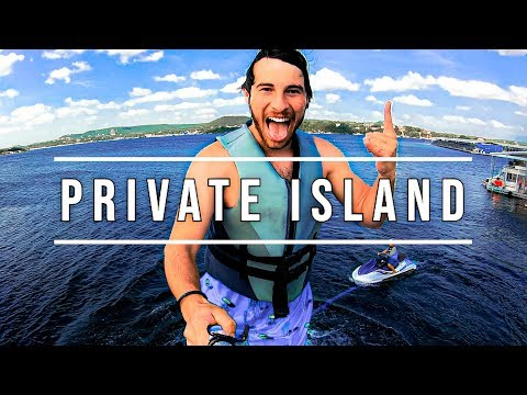 WE SPENT 24 HOURS ON A PRIVATE ISLAND! w/ Andrea Russett & Corey Scherer