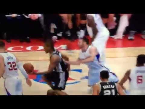 San Antonio Spurs Kawhi Leonard Killer Crossover on LA Clippers JJ Redick