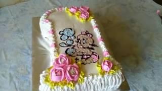 ТОРТ ЕДИНИЧКА./торт на годик, Как вырезать единичку/Торт цифра 1 на годик