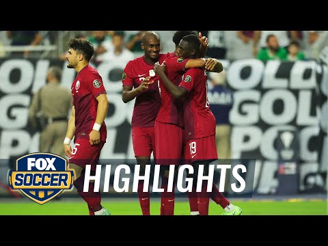 Download Qatar hangs on for 3-2 win over El Salvador in Gold Cup quarterfinals | 2021 Gold Cup