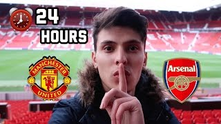 SLEEPING OVERNIGHT In Manchester United Football Stadium!
