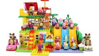 Peppa Pig Blocks Mega House Toys For Kids - Lego Duplo House Construction Sets