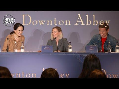 downton-abbey-press-conference---michelle-dockery,-laura-carmichael-&-allen-leech