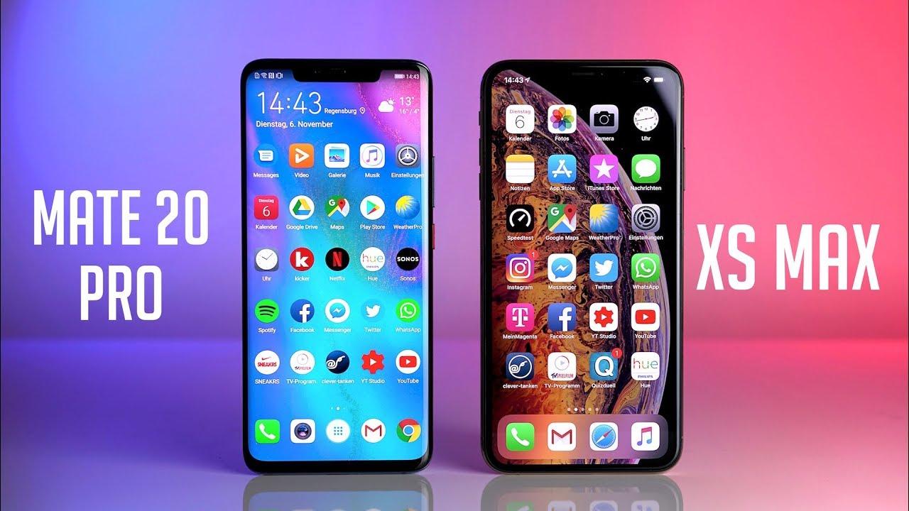 Huawei Mate 20 Pro Vs Apple Iphone Xs Max Deutsch Swagtab Youtube