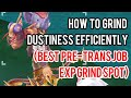 How to EXP grind efficiently on the best Pre-trans job spot
