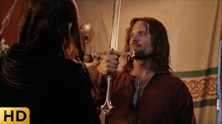Элронд дарует Арагорну меч короля Гондора. Властелин колец: Возвращение короля.