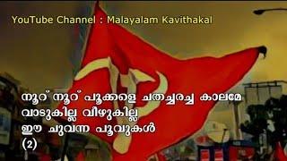 Nooru Nooru Pookkale Malayalam Lyrics | Nooru Nooru Pookkale | Viplava ganam