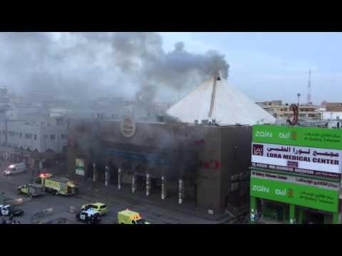 2nd Day fire at Manila Plaza Batha Riyadh 3-3-16