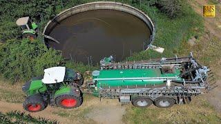 Maispflanzen düngen - Energiekreislauf - Fendt 936 mit Samson PG 20 - Einböck Reihenhackgerät