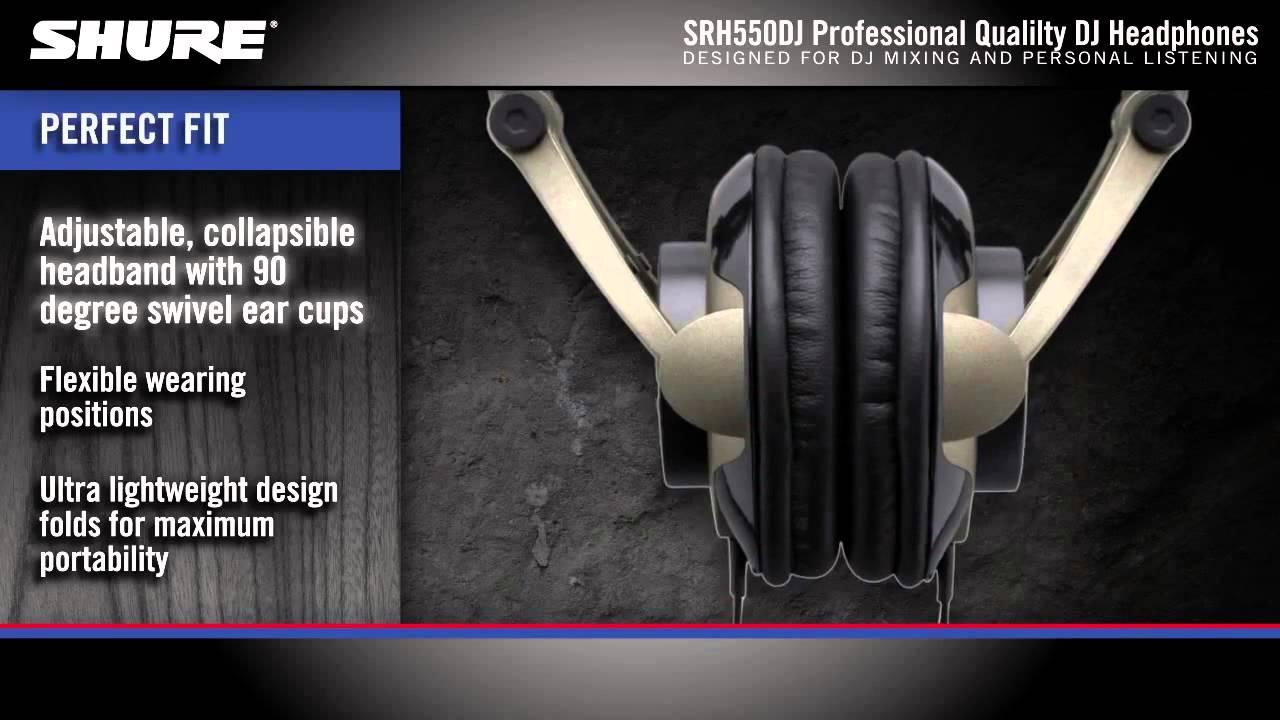 Cuffia professionale da DJ Shure SRH550DJ Professional Quality DJ  Headphones Product Overview mpeg f885b6b4c5fa