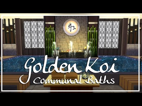 The Sims 4 Speed Build - Golden Koi Communal Baths [Spa]