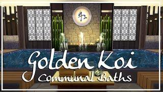 sims 4 speed build golden koi communal baths spa