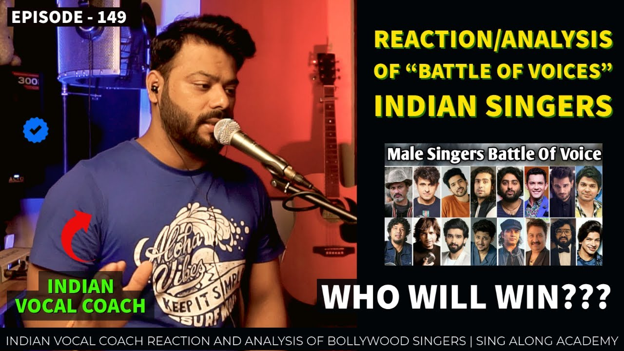 """INDIAN VOCAL COACH REACTS TO """" Male Singers Battle Of Voice""""   MUZIX   Episode - 149   SING ALONG"""