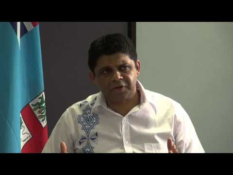 Fijian AG and Minister for Civil Aviation holds press conference on Fiji's national airline.