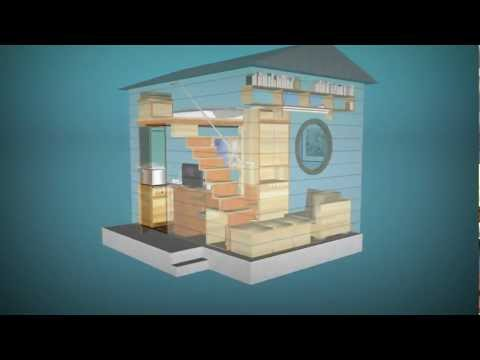 Cube - affordable small prefabricated house qb-12 (12 sq/m 4x3m)