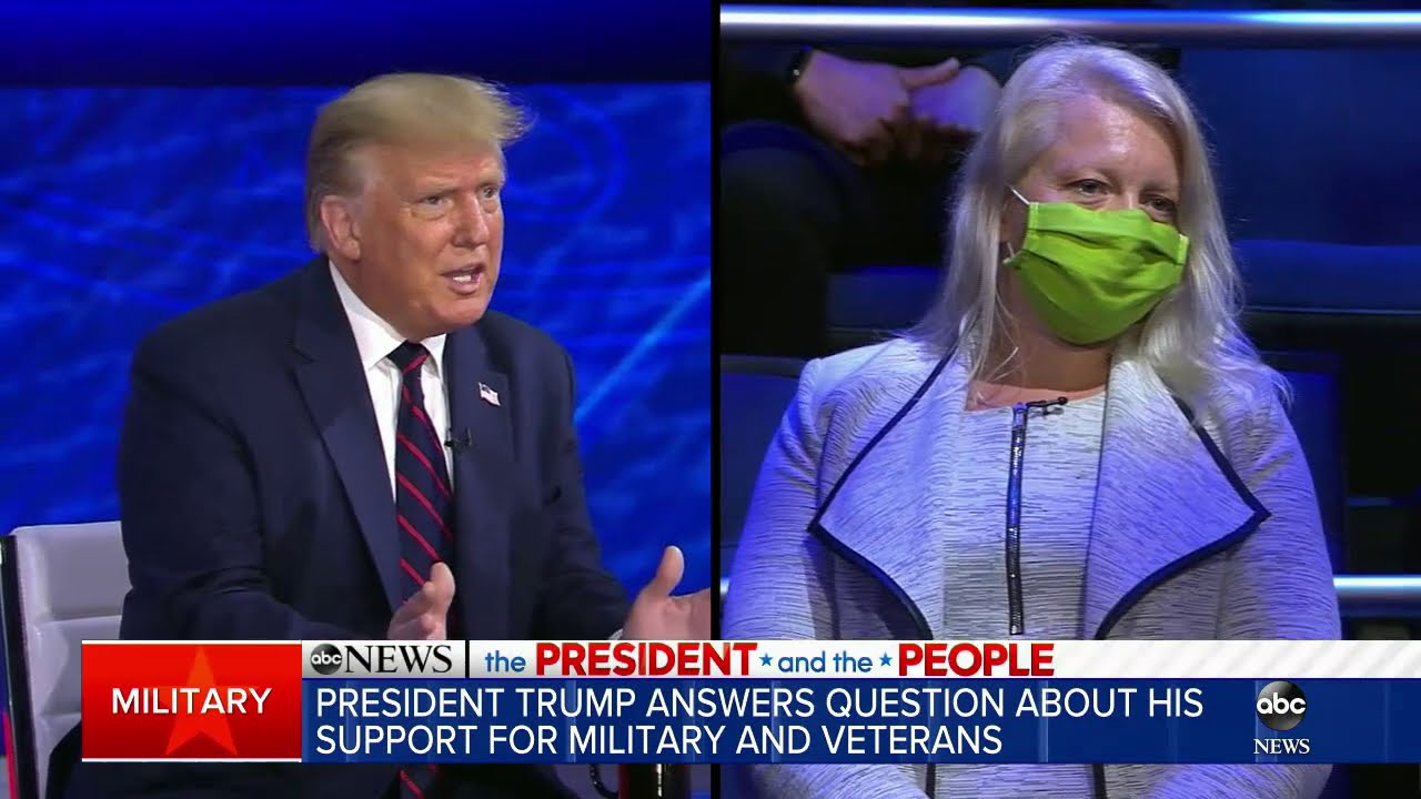 Trump On Abc News Town Hall Comments On Military Were Never Made By Me Youtube