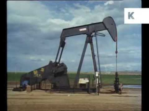 1980s Oil Fields, Pumpjacks, Archive Footage