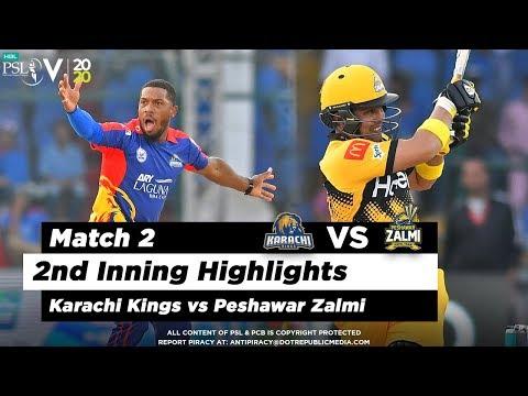 Karachi Kings Vs Peshawar Zalmi   2nd Inning Highlights   Match 2   21 Feb 2020   HBL PSL 2020