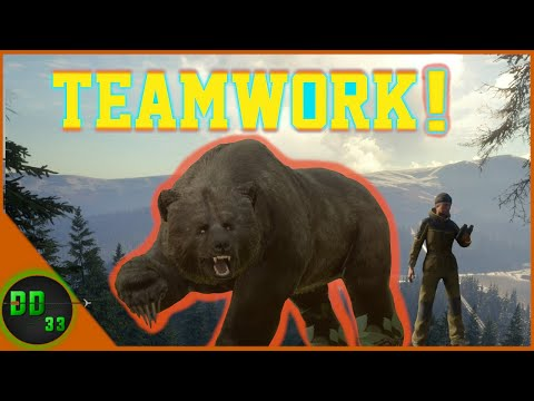 Grizzly Bear Hunting with Lady Legend!  Call Of The Wild