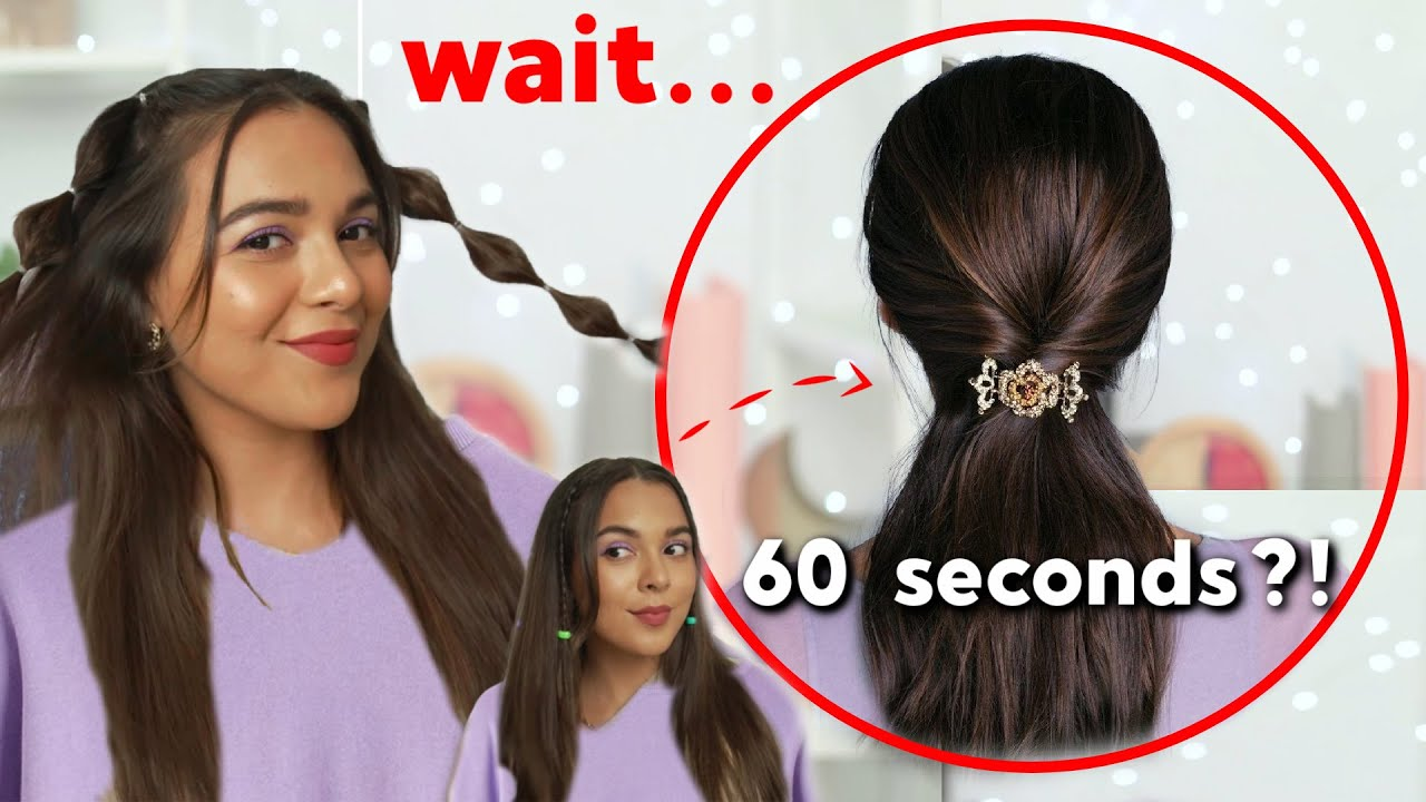 1- MINUTE Hairstyles for BUSY GIRLS Part 2 | Testing Lazy Hair Hacks