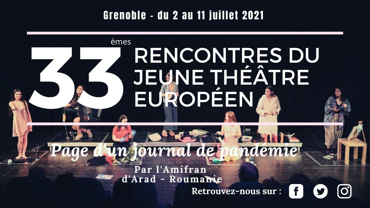 Rencontres du jeune théâtre européen : une édition 2021 à la fois en ligne et en présentiel