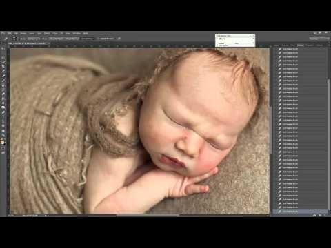 Editing Newborn Photo / обработка фотографии новорожденного - чистая кожа