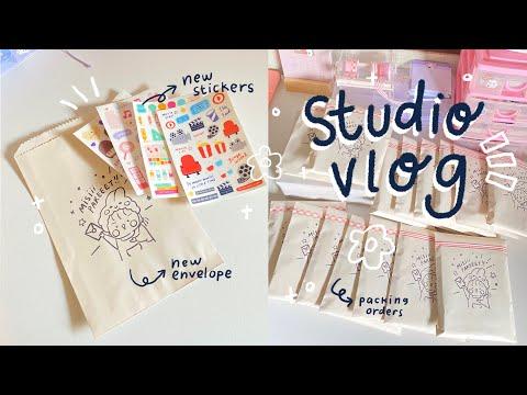 Studio Vlog #8 | NEW PACKAGING, PACK ORDERS WITH ME! || Indonesia