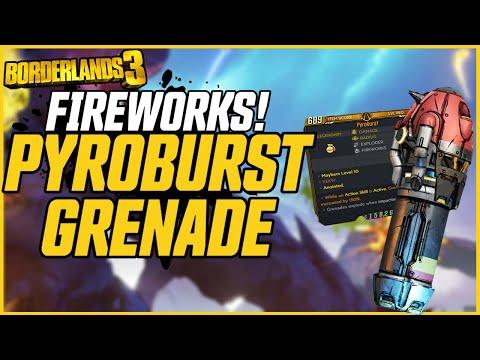 RAIN FIREWORKS! Vault Card 2 Pyroburst Grenade! // Borderlands 3