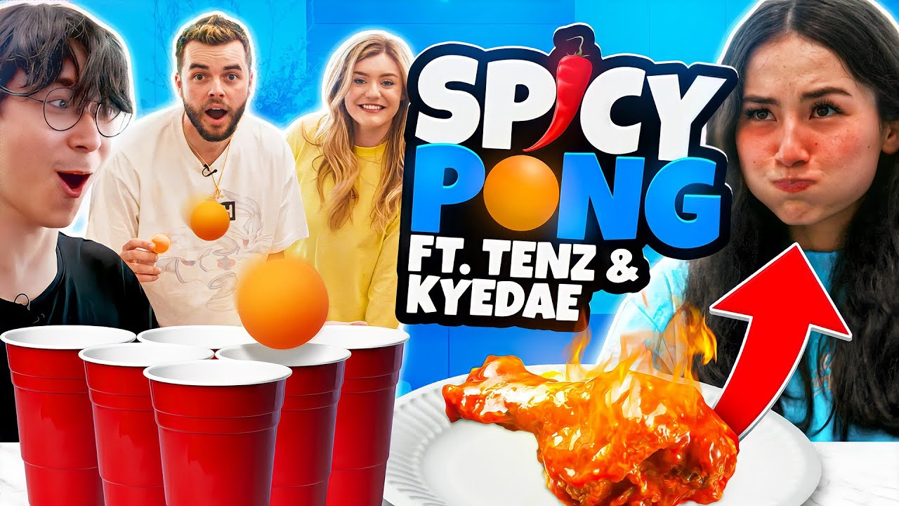 Spicy Cup Pong Challenge ft. Kyedae, TenZ