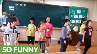 Korean schoolkids take on 'Footloose' dance moves