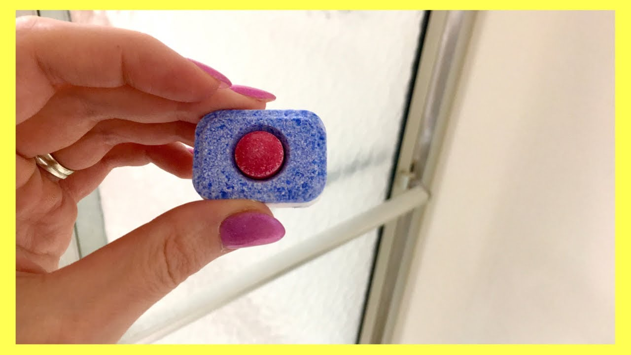 Put A Dishwasher Tablet In Your Shower Watch What Happens Next Bathroom Cleaning Hacks Youtube