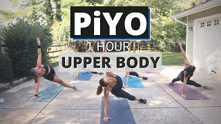 PiYO Full Body Flow | At Home Workout | No Equip | Upper Body Strength Yoga Flow | Group Fitness