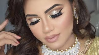 GRWM| Wedding Makeup Look using Kryolan Panstick and pancake| MakeupByAzmeree
