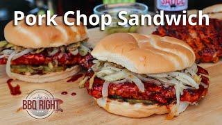Chargrilled Pork Chop Sandwich