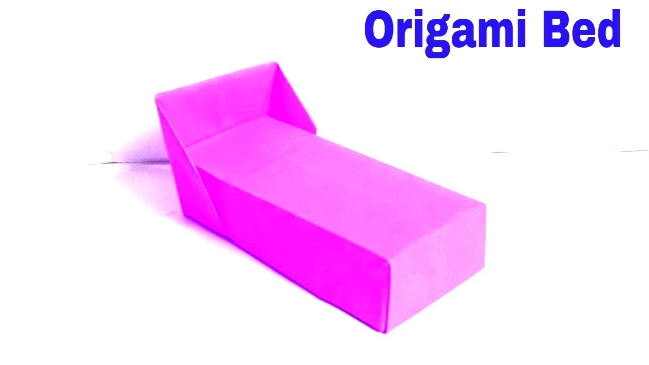 simple origami bed how
