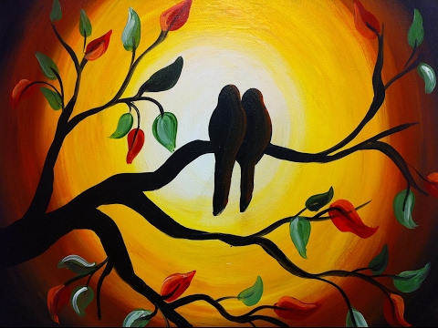 Love Birds | love |couples| painting | Sketch birds