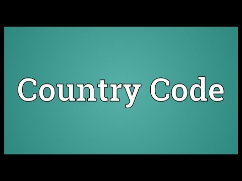 Country Code Meaning
