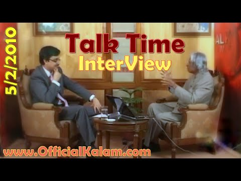 A P J Abdul Kalam Interview at Talk Time with Wasbir Hussain