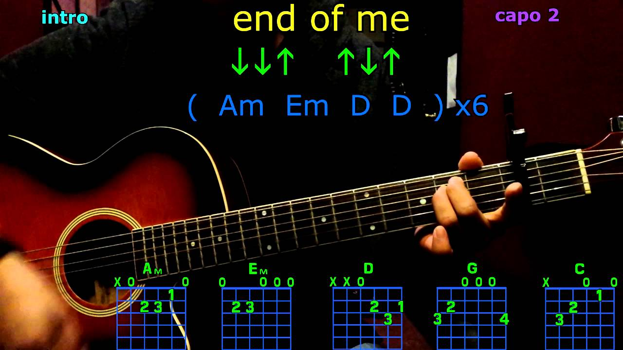 End Of Me A Day To Remember Guitar Chords Youtube