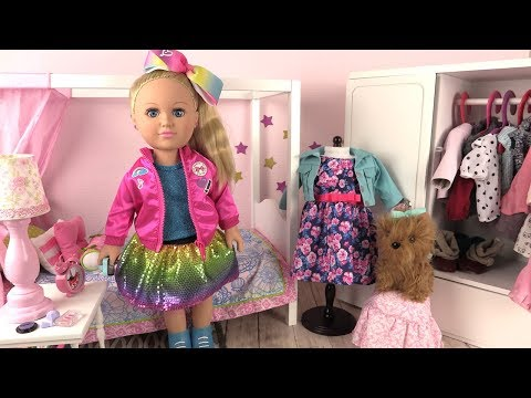 JOJO SIWA MORNING ROUTINE WITH PUPPY BOWBOW ✤ MY LIFE DOLL AND CLOTHES