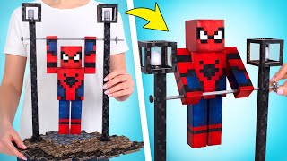 DIY Pull-Up Spider-Man From Cardboard