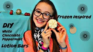 Easy Diy Lotion Bars | Frozen Inspired Snowflake | White Chocolate Peppermint