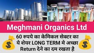 Meghmani Organics Ltd, केमिकल सेक्टर का ये शेयर LONG TERM मे अच्छा Return देने का दम रखता है (Hindi)