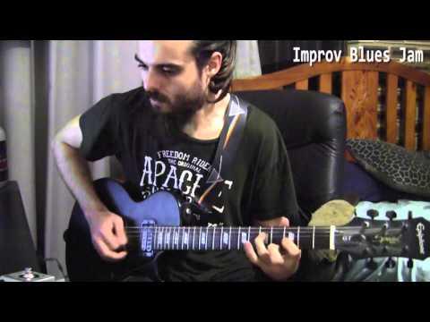 Late night improv blues guitar jam