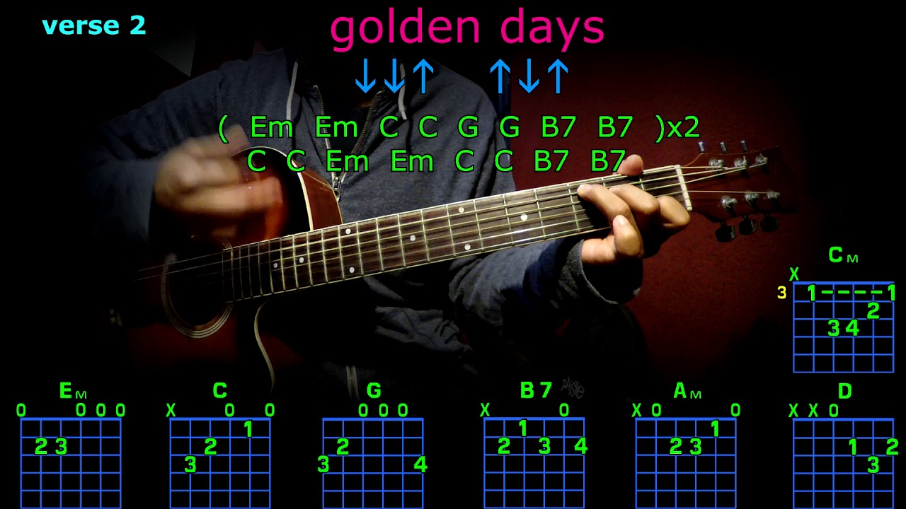 golden days panic at the disco guitar chords - YouTube