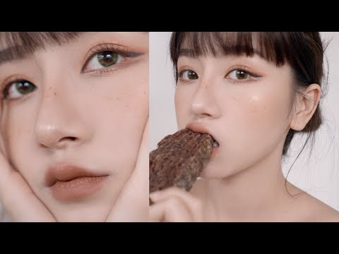 Mocha Latte inspired makeup look for fall   Makeup mùa thu - wthnhifilm