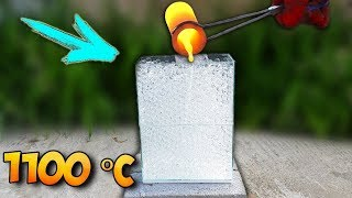 EXPERIMENT: 1100 DEGREE MOLTEN COPPER VS INVISIBLE ORBEEZ AQUARIUM!!!