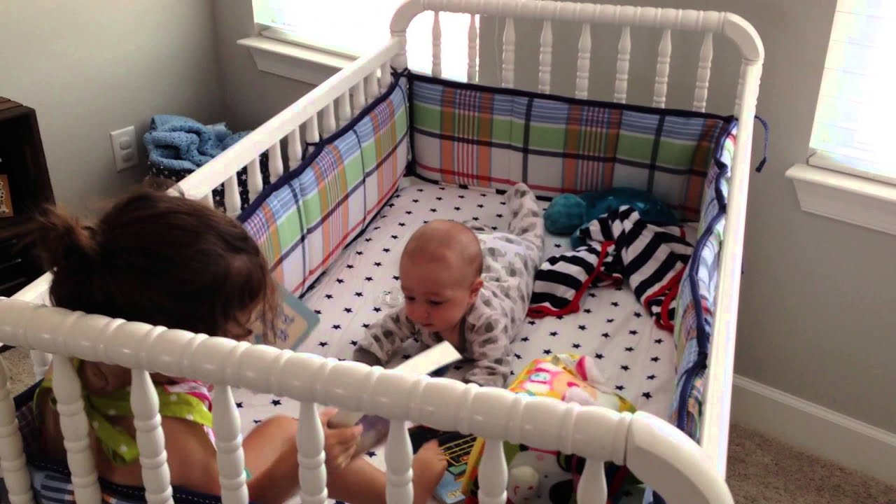 Baby bed for 2 year old - 2 Year Old Reads Bedtime Stories To Her Baby Brother