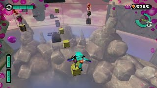 Splatoon amiibo Limited Ink World Record (16 Shots Worth of Ink) for Stage 23 (Spongy Observatory)