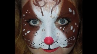 Christmas Rudolph The Red Nosed Reindeer Face Painting | Chicago Face Painting